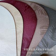 歐式壓花墻紙布紋pu皮革 人造革KTV印花紋墻面pu皮革面料