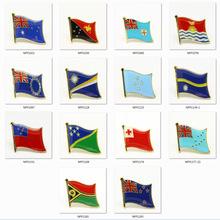 现货电商专供 澳大利亚国旗徽章澳洲大洋洲国家金属胸针衣服配饰