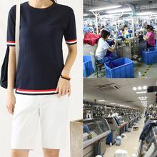 淘工厂2018韩版女装针织衫夏装短袖T恤来图来样贴牌生产加工定制