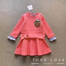 外贸新款 韩国TW正品 女童连衣裙 空气棉