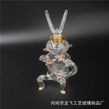 定制工藝酒瓶 肖猴硼硅玻璃工藝酒瓶 高檔動物酒瓶醒酒器玻璃