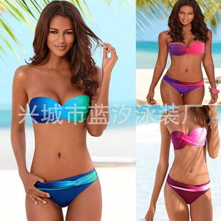 Blue tide swimsuit gradient twist bag sexy bikini foreign trade popular swimwear 2019 new bikini