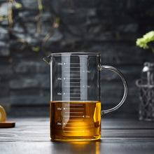 高硼硅玻璃刻度杯 耐热加厚透明烘焙牛奶杯 量杯微波炉加热