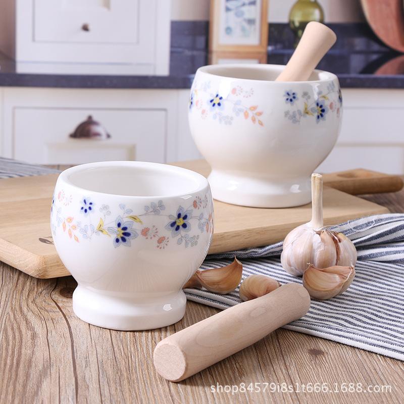 厨房工具压蒜器家用捣蒜器陶瓷蒜臼子研磨器捣碎器捣药罐蒜缸创意