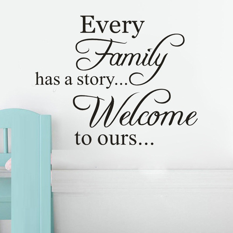 Quotes Wall Sticker Character Wall Decal Every Family Has A Story