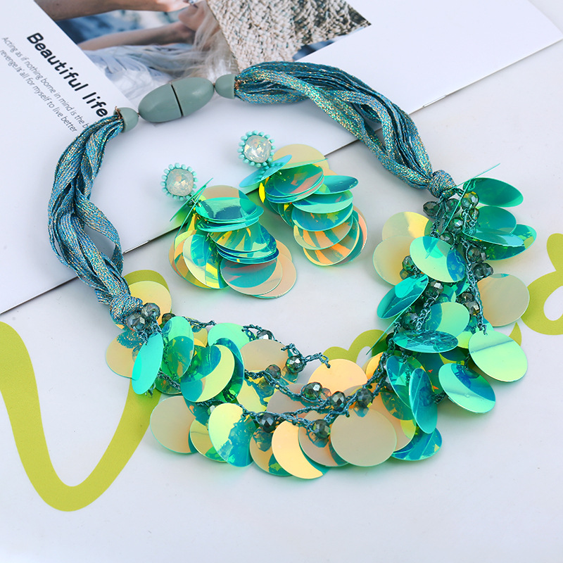 Plastic Fashion  necklace  (yellow) NHVA4780-yellow