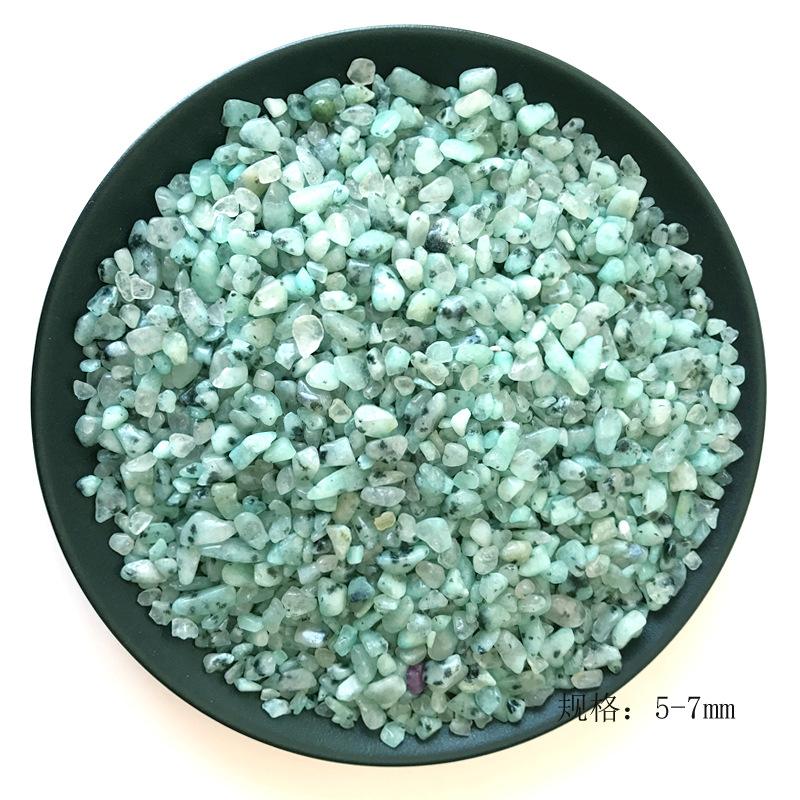 天然水晶碎石天山兰水晶装修装饰无孔碎石