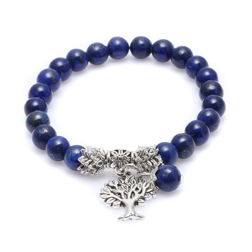 Fashion Natural Energy Stone Bracelet Life Tree Pendant Stretch Bracelet NHZU198271