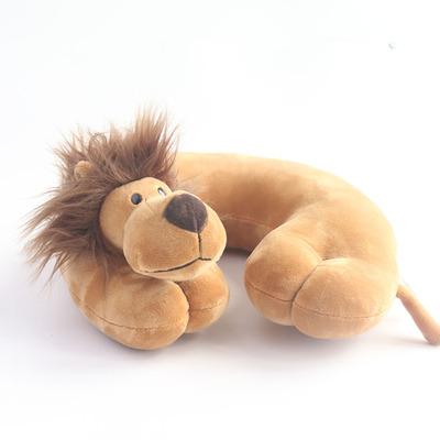 JSQ TOYS可爱卡通深色狮子U型枕上班族旅游必带厂家直销加工定制