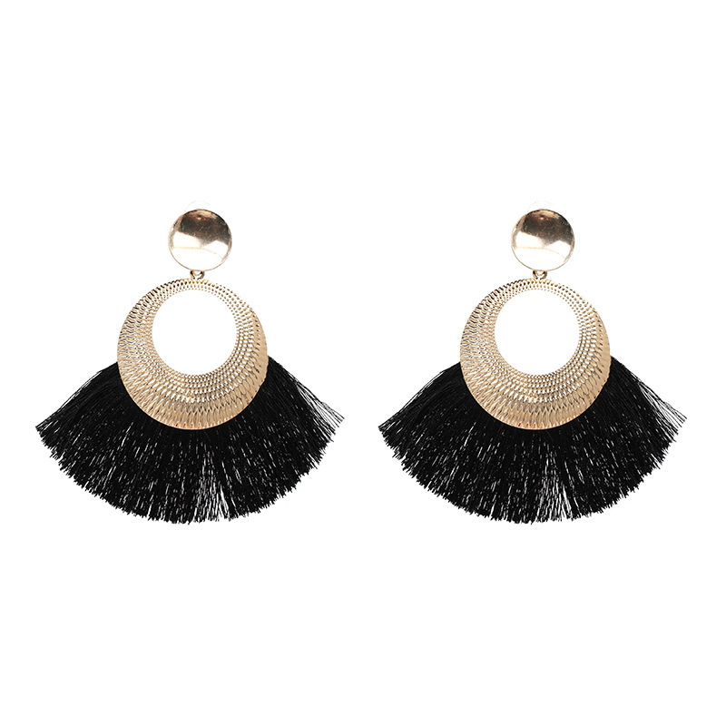 Alloy Fashion Tassel earring  (red) NHJJ5051-red