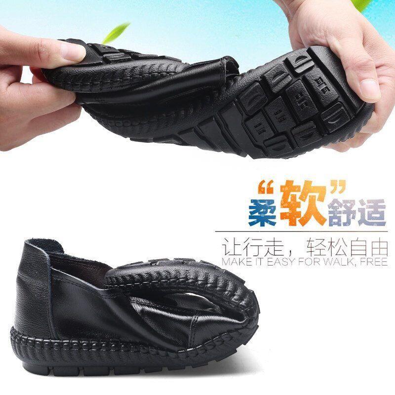 2019 أحذية رجالية غير رسمية الربيع والخريف الأحذية الجلدية الجديدة بو الأحذية الجلدية البازلاء الناعمة أحذية الرجال البريطانيين كسول أحذية رجالية قطرة واحدة الشحن