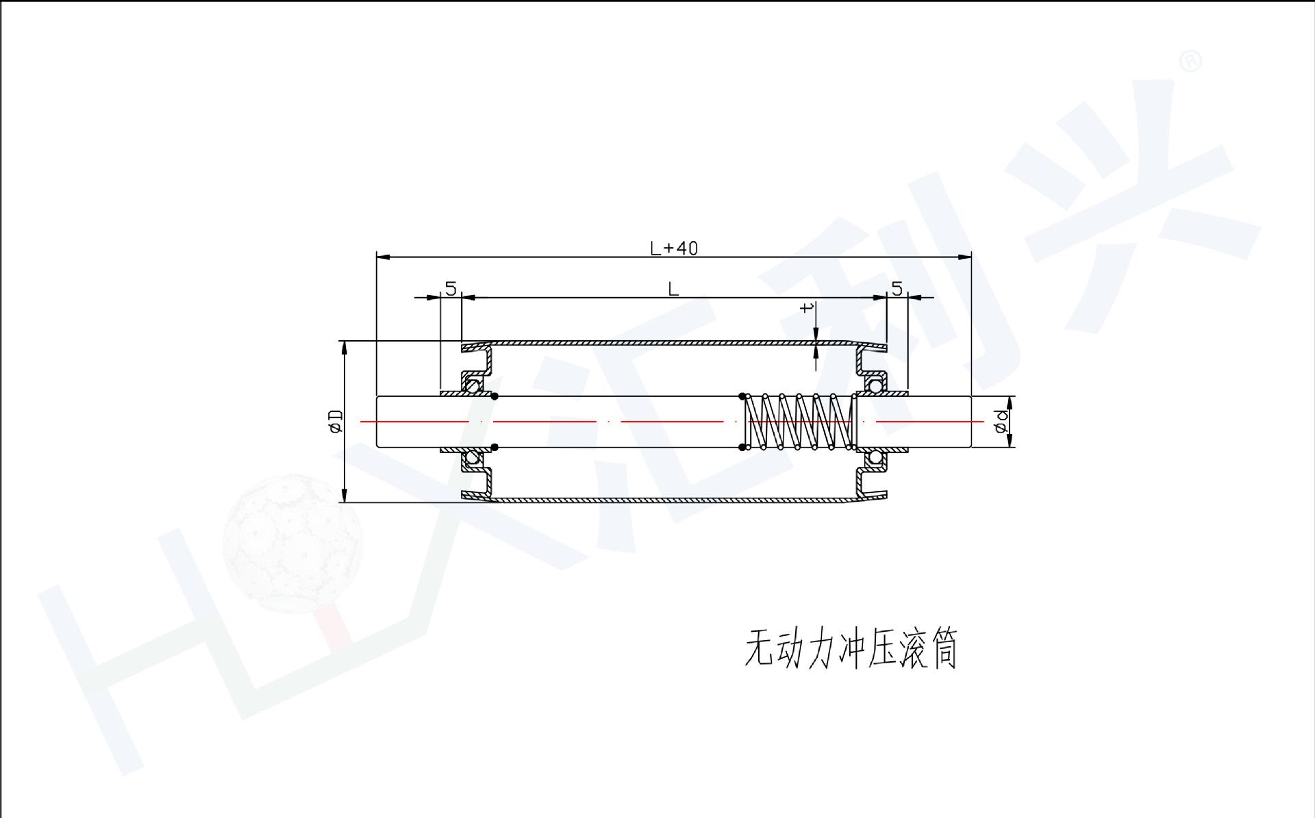 无动力冲压滚筒-Model
