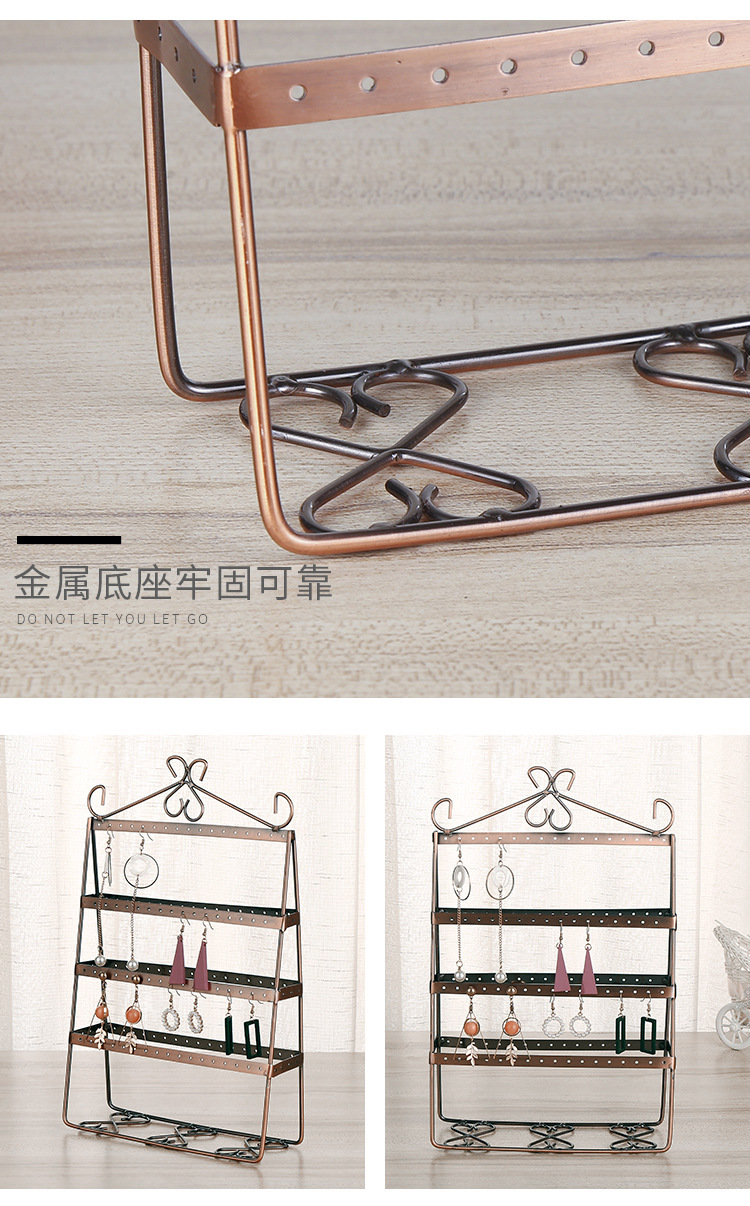 creative double-sided earring rack earring storage rack jewelry display  earring display stand wholesale  NHAW235869