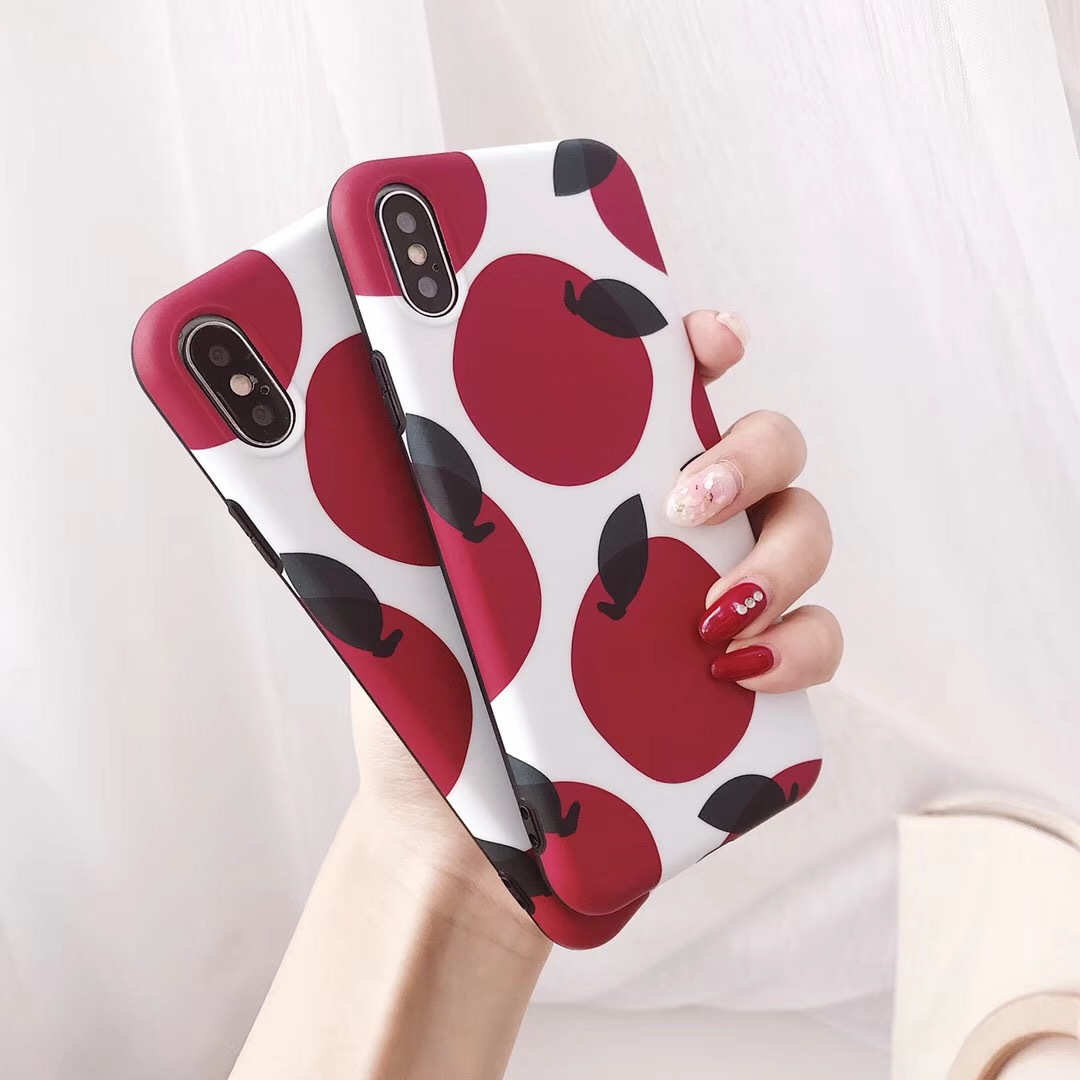Korea ins wind retro fruit iPhonex mobile phone shell Apple 6splus female models 7/8p all-inclusive silicone female models