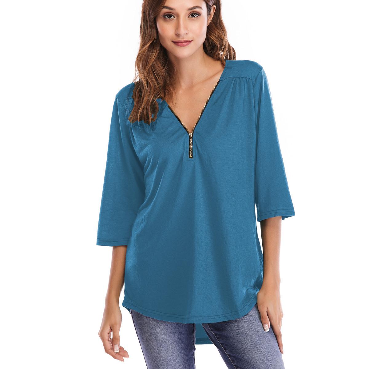 одежда для беременных Большие размеры S-5XL свободные футболки Половина Твердые undefined