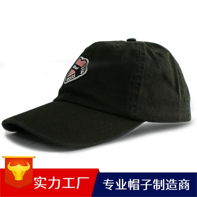 亚马逊热销韩版纯棉刺绣成人户外旅游水洗棒球帽儿童帽子批发定制