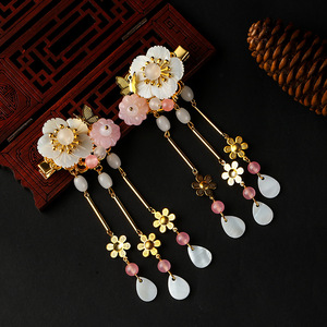 chinese hanfu hair accessory for girls Ancient Chinese Hanfu Costume Accessories ancient hairpin hairpin with butterfly shell tassel and back to ancient hairpin