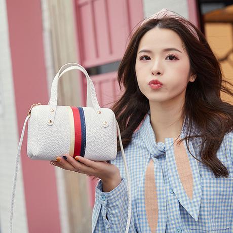 Túi xô ruy băng 2019 Nhật Bản và Hàn Quốc mới đơn giản thời trang túi xách bình thường đeo vai nữ hoang dã đeo chéo nữ