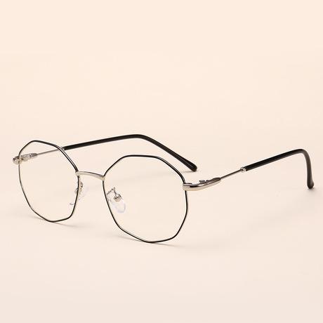 Kính cá tính mới gọng kính phẳng không đều nam nữ đi kèm khung cận thị kính gọng kính thời trang 0058
