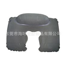 海叶生产pvc双面植绒枕头 pvc充气靠垫靠枕午休睡眠枕 价廉品优