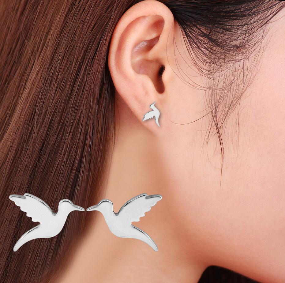 Ladies earrings flying bird earrings woodpecker earrings and peace pigeon earrings wholesale NHCU189033