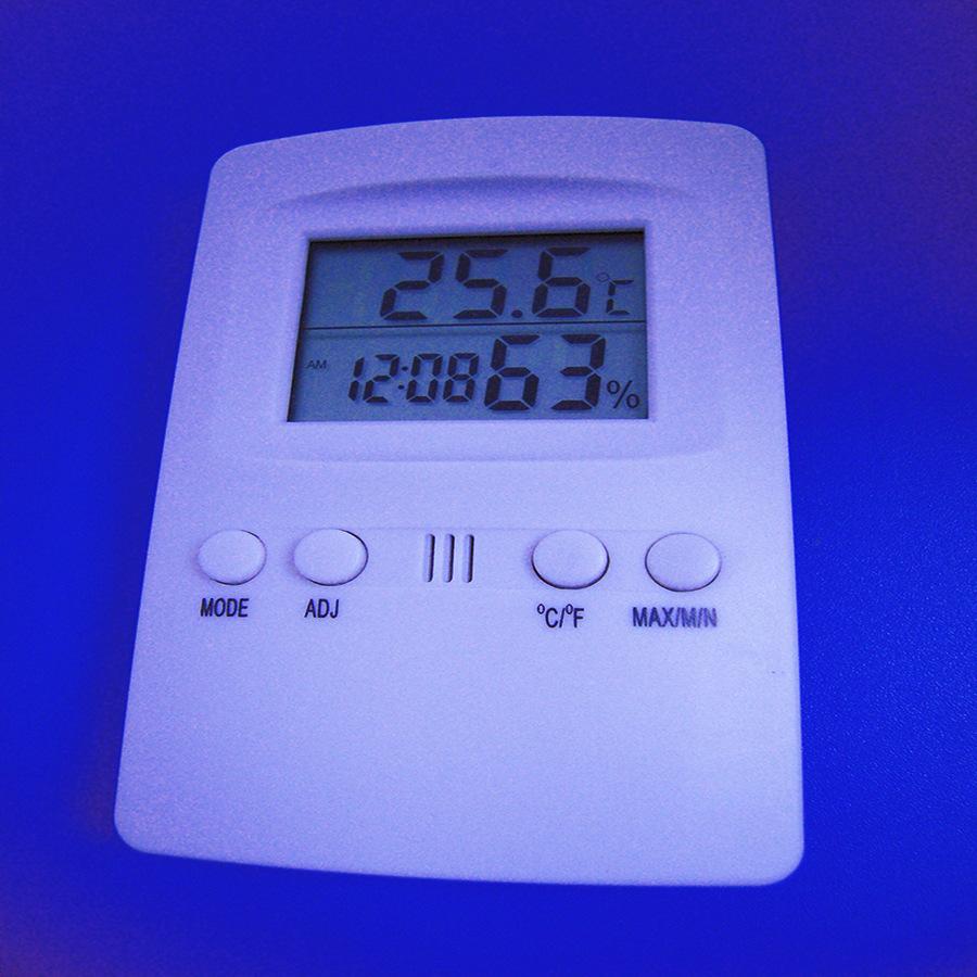 带时钟LCD数字显示温湿度计