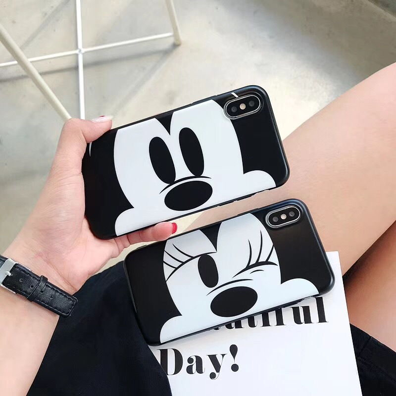Covering soft shell Apple 6s/X mobile phone case iphone8/7 cartoon Mickey Minnie protective cover Cute tide shell