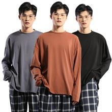 秋冬季港风长袖T恤男2018新款?#21487;?#30334;搭打底衫日系原宿风上衣