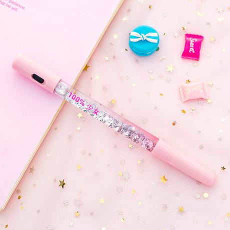Cát lún dốc gel bút bút đáng yêu bút nước cổ tích sáng tạo sáng đa chức năng sinh di động viết bút