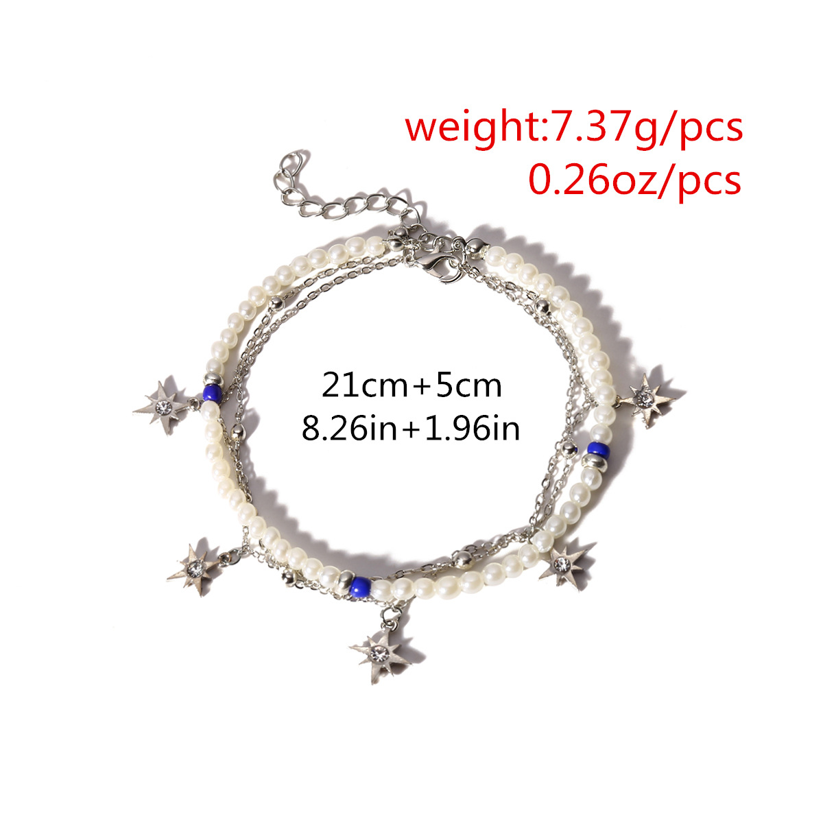 Alloy Simple Geometric Anklet  (Alloy 0426) NHXR2472-Alloy-0426