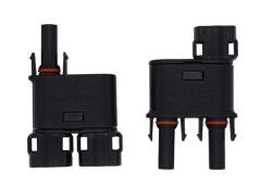 太阳能光伏插头MC4公母插头MC4连接器光伏组件T型3通防水插头接头