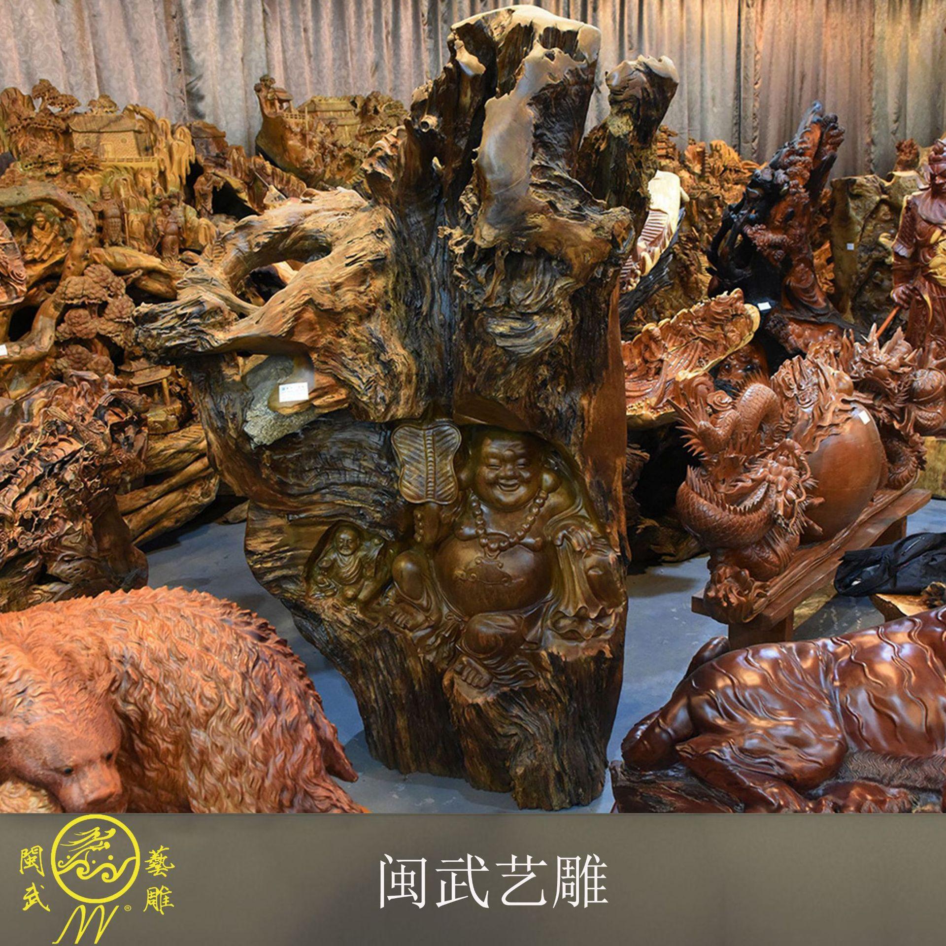 楠木 弥勒佛像 佛像摆件 会所摆件礼品 工艺品 厂家直销现货