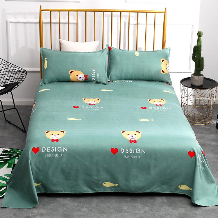 加厚植物羊绒床单 不起球学生宿舍床上用品斜纹植物羊绒床单单件