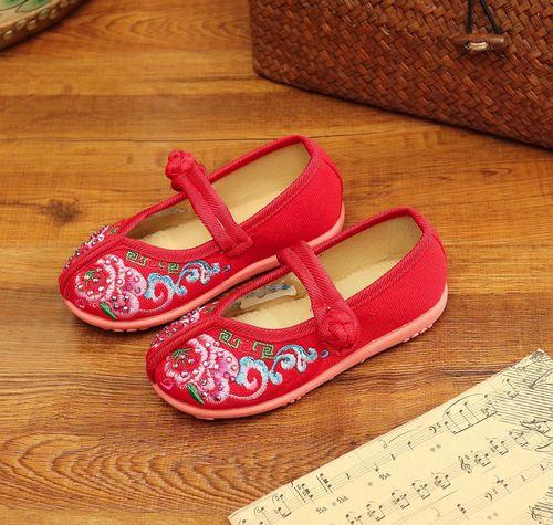 Beijing shoes women Tang shoes children Chinese folk dance hanfu embroidered shoes Hanfu shoes ethnic children shoes