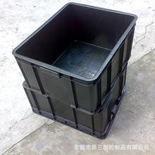 供应佛山标准尺寸黑色防静电周转箱 塑料箱 防尘带盖塑胶箱