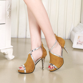 Summer new women's sandals stiletto heels fish mouth hollow sexy fashion trend women's shoes
