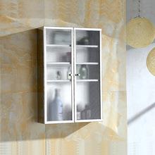 不锈钢浴室吊柜 双开门厨柜储物柜 卫生间边柜侧柜 厨房壁柜