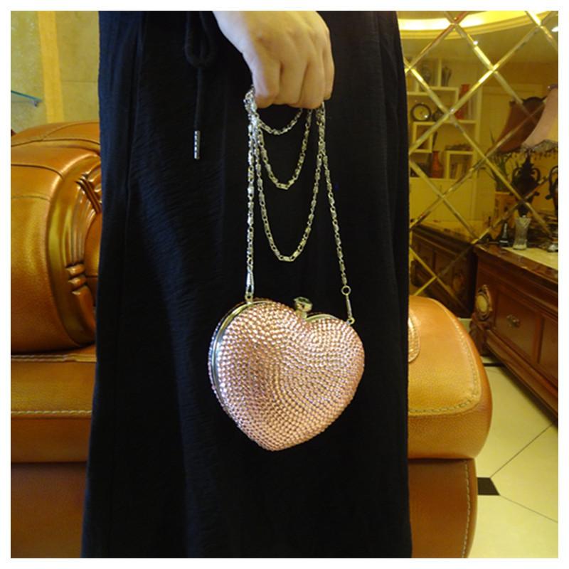 高档金属晚装包手拿包外贸出口欧美高档奢华手工镶水晶钻硬壳手包