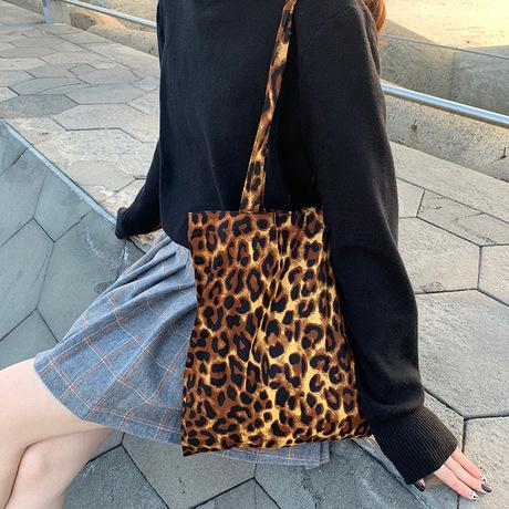 L316 2018 mẫu thu đông 2018 phiên bản Hàn Quốc của túi đeo vai họa tiết da báo sang trọng thời trang túi xách tay bán buôn túi vải canvas