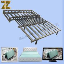三折推拉床铁架 全钢架紧密黑色折叠支撑 功能沙发床五金床配件