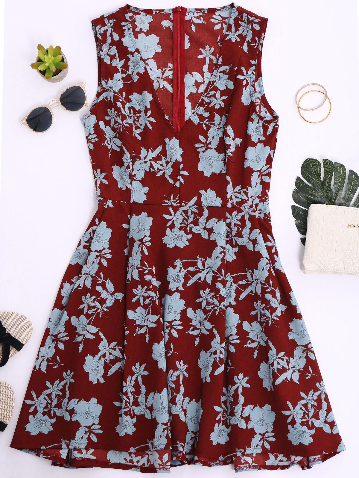 GUMPRUN Women Sexy V Neck Sleeveless Mini Summer Dress 2018 Boho Floral Print Dresses Vestidos Female Beach Casual Short Dress 12