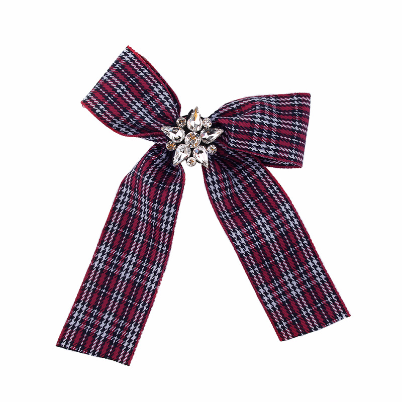 Alloy Fashion Bows brooch  Red and white stripes NHJQ9902Red and white stripes