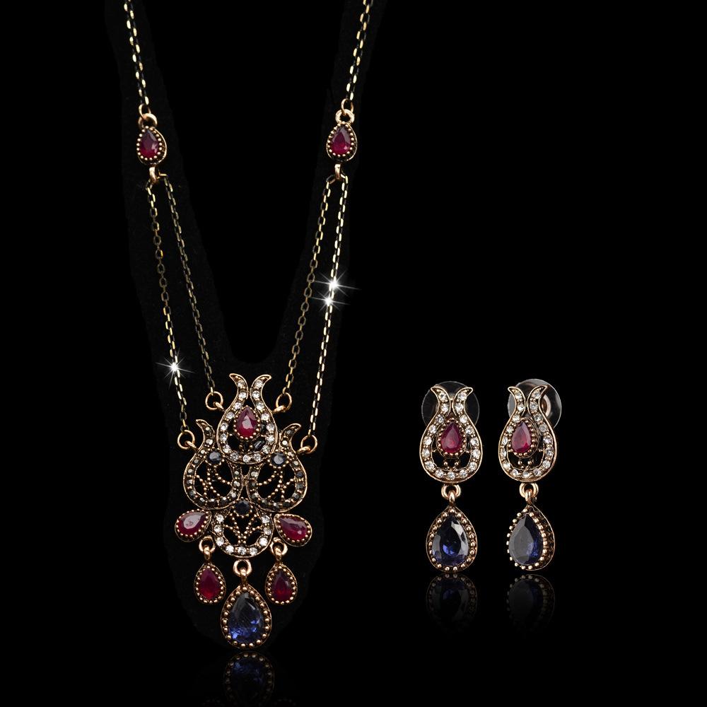 Fashion wild temperament ladies retro jewelry set NHLJ152020