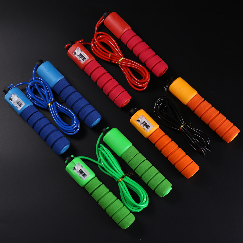 Men And Women Fitness Exercise Sponge Count Adult Children Skipping Rope