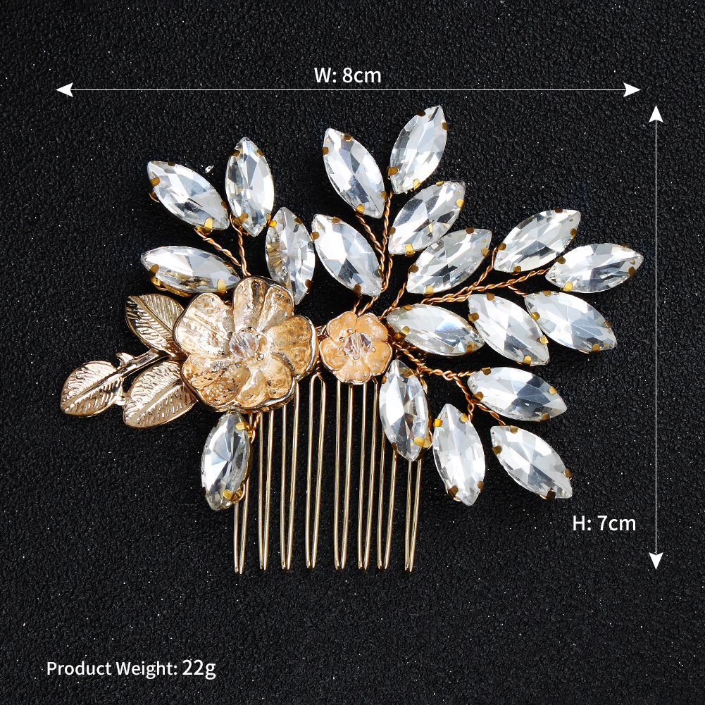 Imitated crystal&CZ Fashion Geometric Hair accessories  (Alloy) NHHS0616-Alloy