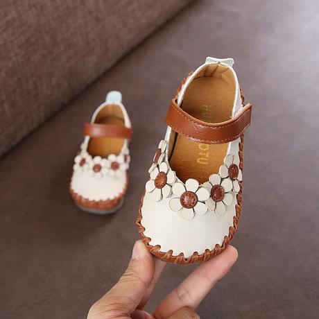 Xuân 2019 hoa nhỏ mới phiên bản Hàn Quốc của bé gái giày đế mềm đế mềm chống trượt cho bé mới biết đi giày công chúa thời trang giá sỉ Giày công chúa