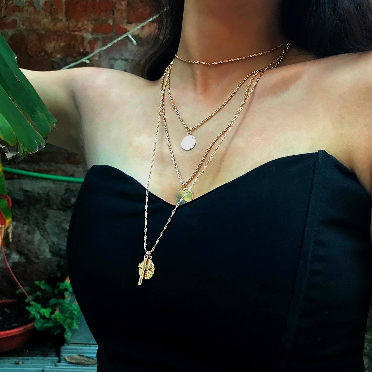 Alloy Simple Geometric necklace  Alloy 1972 NHXR2464Alloy1972