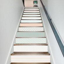 LT136少女几何图 北欧儿童房装饰 楼梯贴时尚创意台阶装饰墙贴