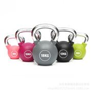 PU彩色壶铃厂家直销一件代发健身运动器材浸塑壶铃家用竞技商用