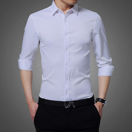 Spring and summer men's casual life shirt Slim business thin section free hot tide men's long-sleeved shirt